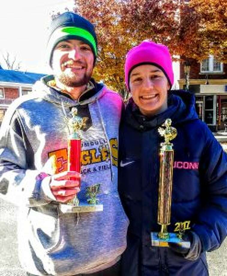 Shane and Kate Romanchick following the Turkey Day Trot.