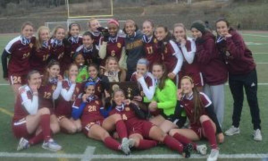 St. Joseph defeated RHAM, 1-0, to earn its third Class L state title in a row. — Andy Hutchison photo