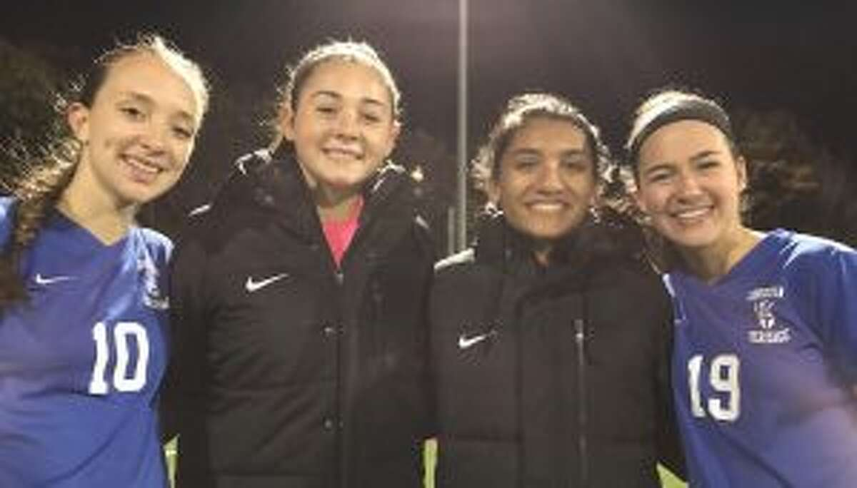 Lydia Kellogg, Soph Luft, Ranita Muriel and Bella Christian helped CHS defeat Harvey School in the HVAL semifinals.