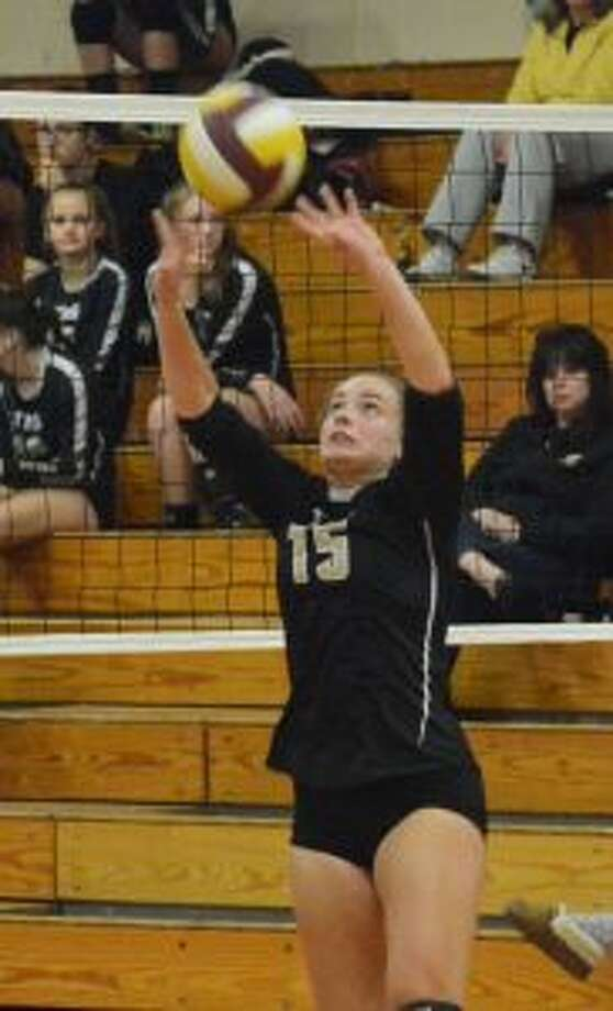 Trumbull High's Ally Neilsen had 51 assists in the match with Fairfield Warde. — Andy Hutchison photo