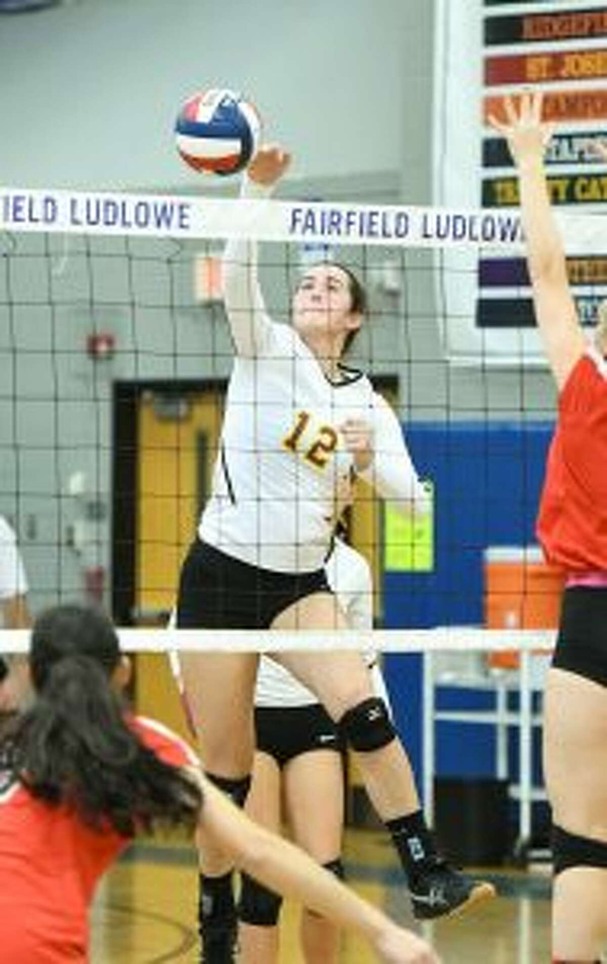 The Cadets' Christina Crocco had eight kills to tie for the team lead.