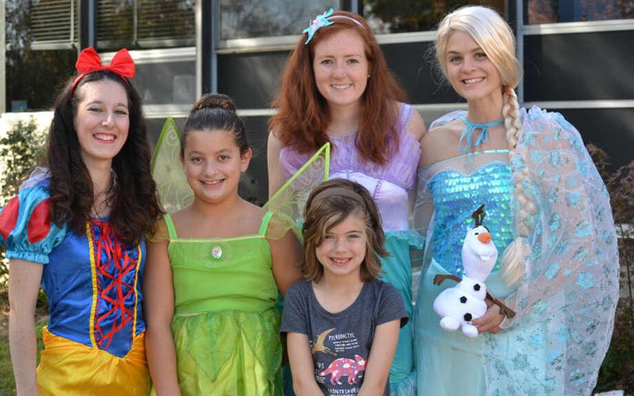 More than a dozen teachers volunteered, some dressing up as princesses: 5th grader Julia Lorant as Tinkerbell and 2nd grader Caroline Herrington.