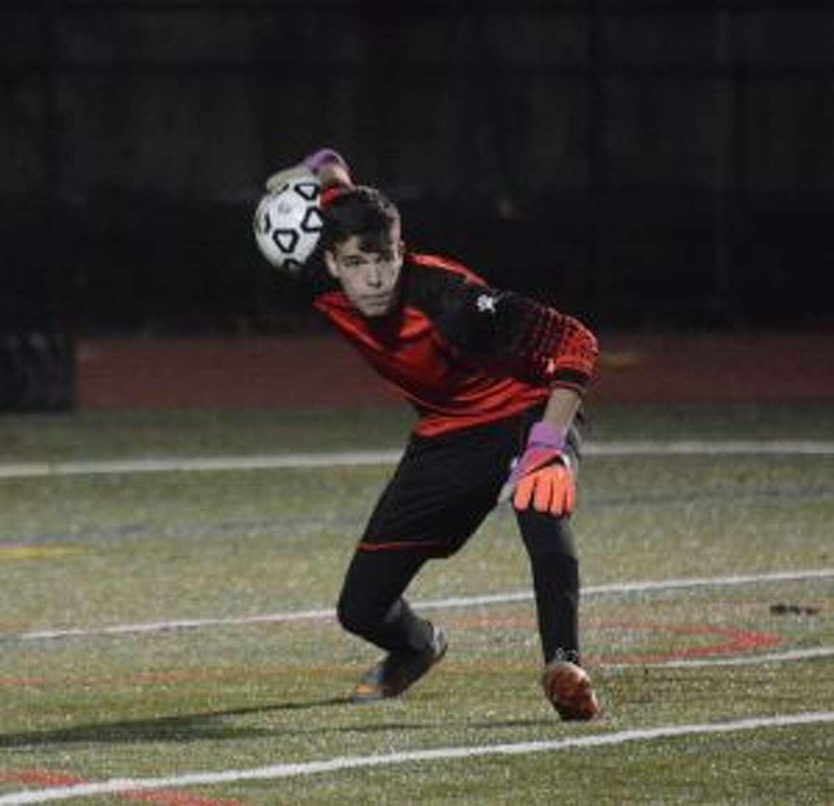 Andrew Menjivar was stellar in goal for the Eagles.