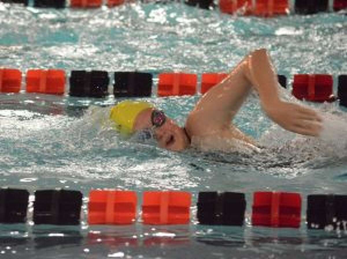 St. Joseph's Ania Simoncek placed second in the 200-and 500 freestyle in the meet with Shelton High. - Andy Hutchison photo