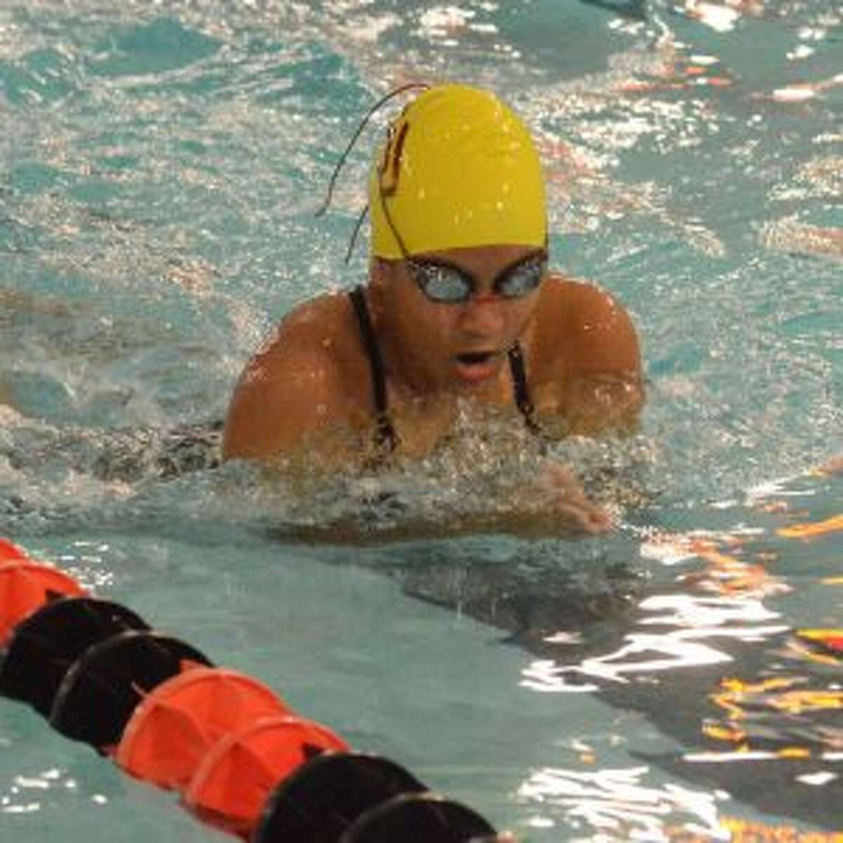 Gabby Saavedra has made states in the breaststroke.