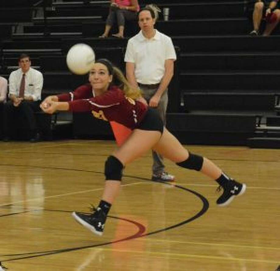 Bridget Fatse was a force at the net and in service for St. Joseph. — Andy Hutchison photo