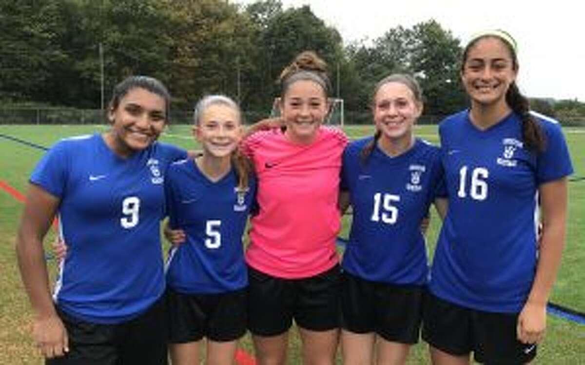 Ranita Muriel, Alex Angelini, Soph Luft, Mia Angelini, Sophia Mammana helped CHS open its season with a 5-0 victory.