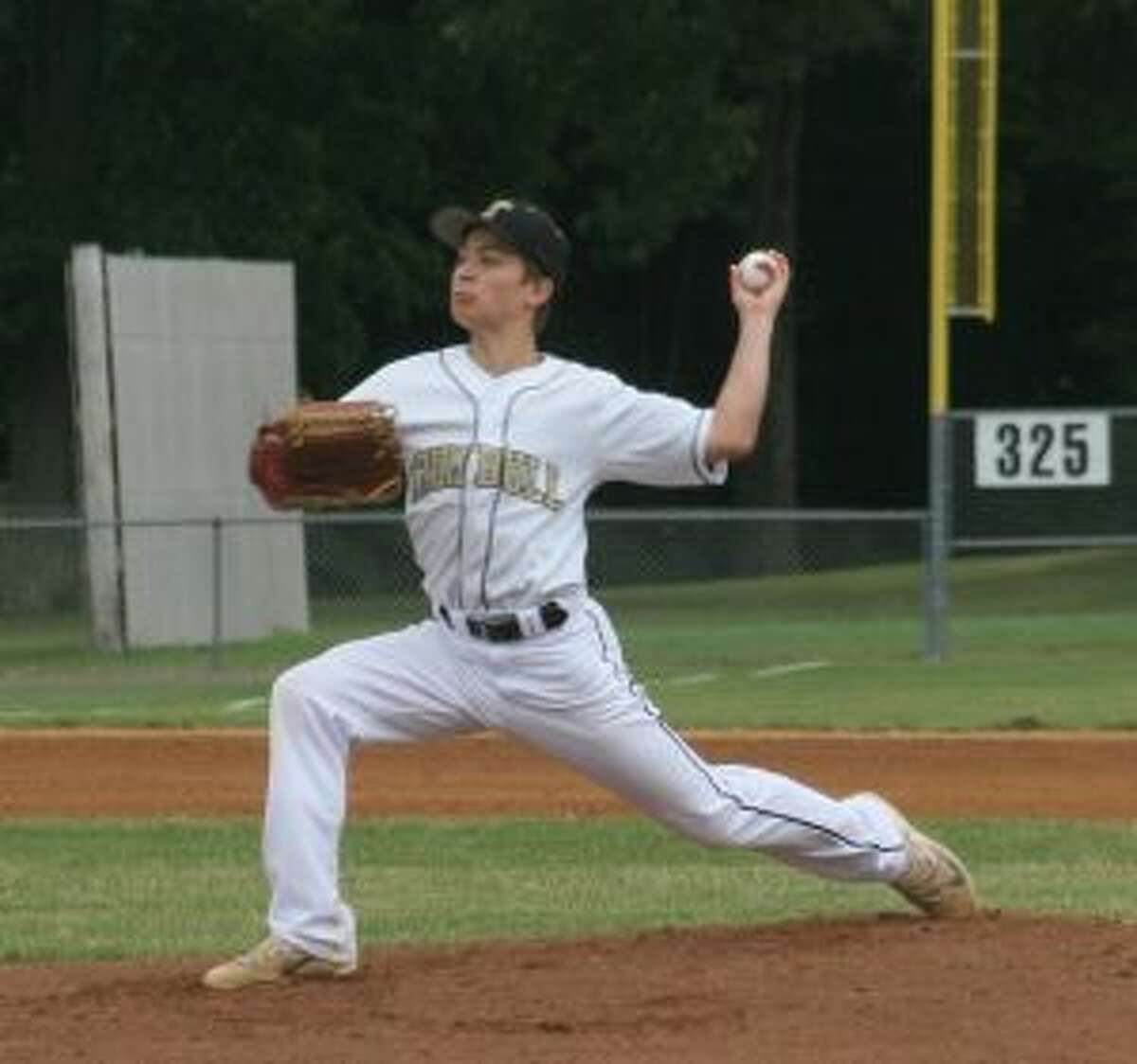 Ray Leonzi pitched Trumbull to a 5-3 victory over Brattleboro (Vt.). - Bill Bloxsom photos