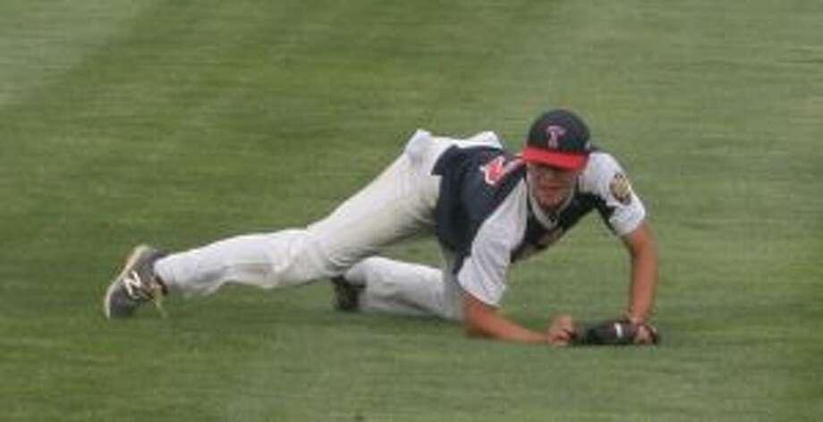 Danny Ruchalski knocked in the winning runs for Trumbull. — Bill Bloxsom photo