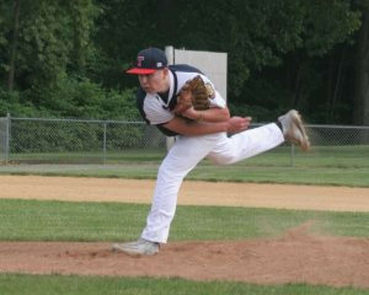 Trumbull's Dan Keckler allowed only one hit and struck out 10 batters. - Bill Bloxsom photos