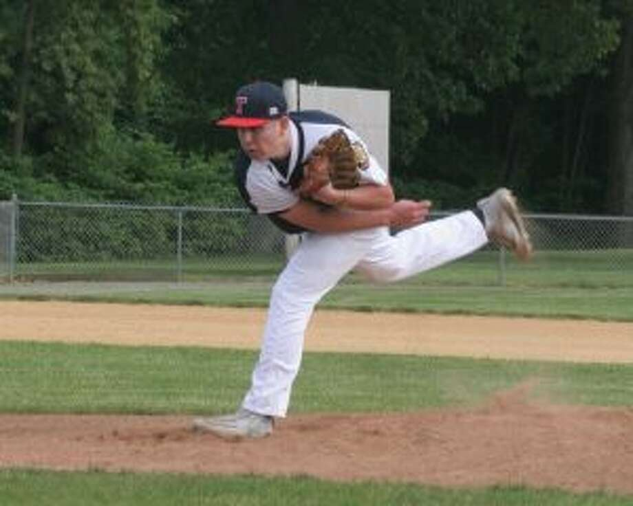 Trumbull's Dan Keckler allowed only one hit and struck out 10 batters. — Bill Bloxsom photos