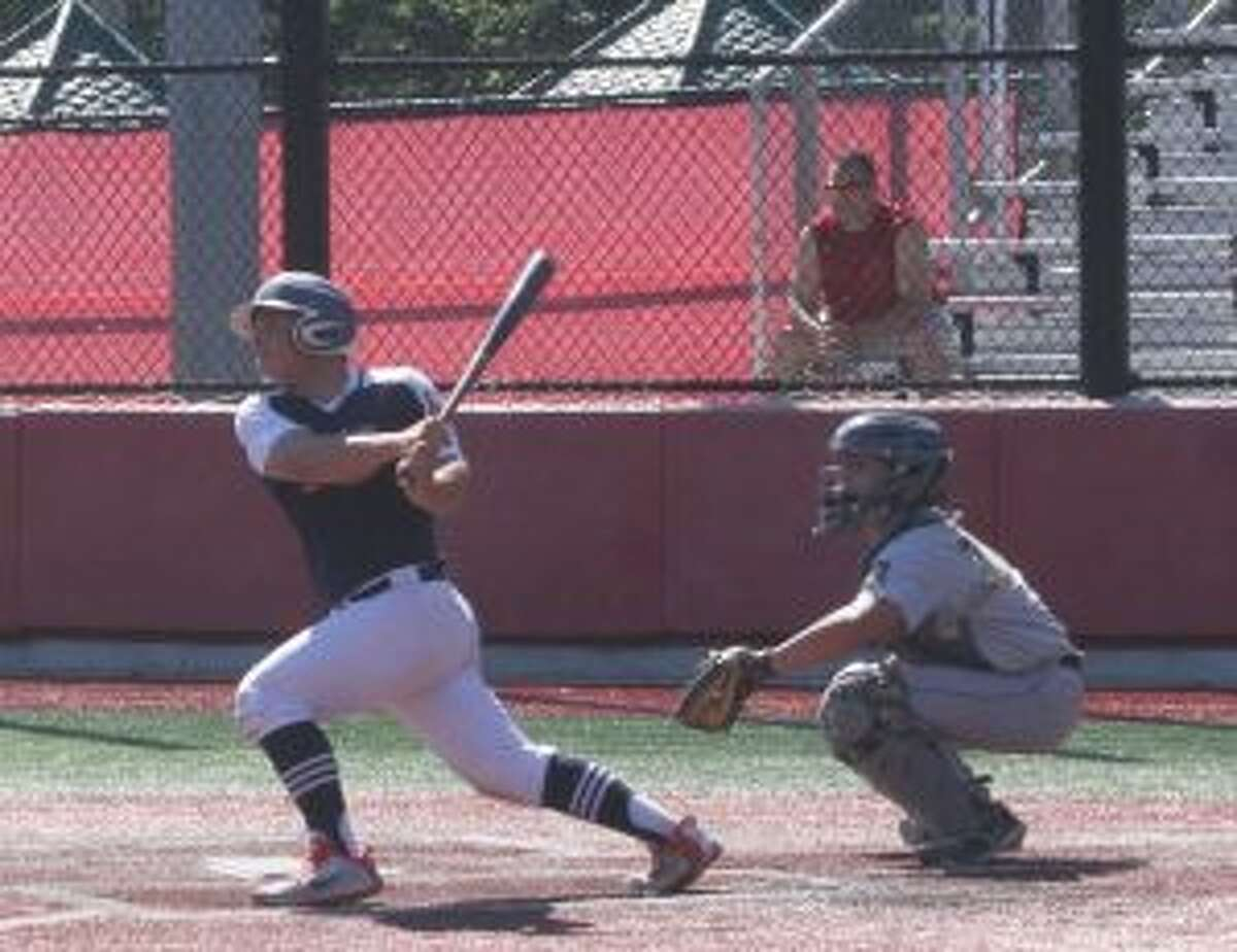 Alex Rauso had the last of five straight Trumbull hits in the fifth inning. - Bill Bloxsom photos