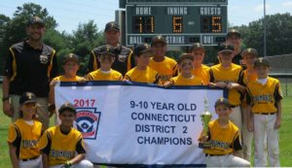 Team members (front row) are: Ben Parente, Sebastian Perez and Nolan Carbone; (second row) manager Al Carbone, James Callaghan, Ryan Johnston, coach Jack Shannon, Nashy Daly, Kaiden Escobar, Vinny Lombardo, Will Margolies, Jack Shannon, coach Eric Parente, Michael Pogany and Sean Haight.