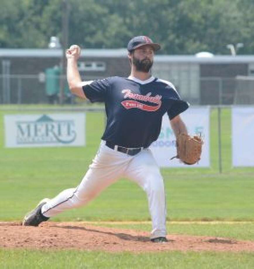 Andrew Lojko got the win on the mound and drove in a run for Trumbull. — Andy Hutchison photo