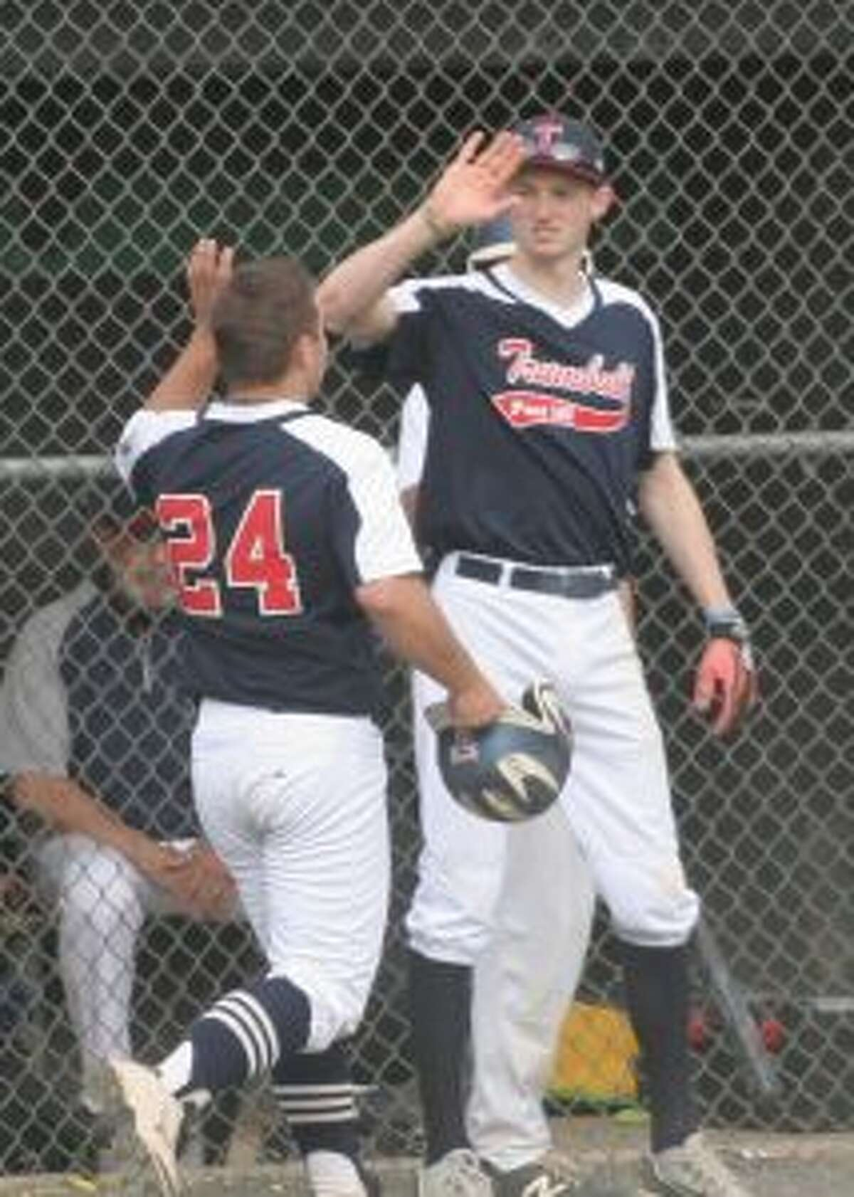 Trumbull banged out 16 hits in the win over Norwalk. - Bill Bloxsom photo