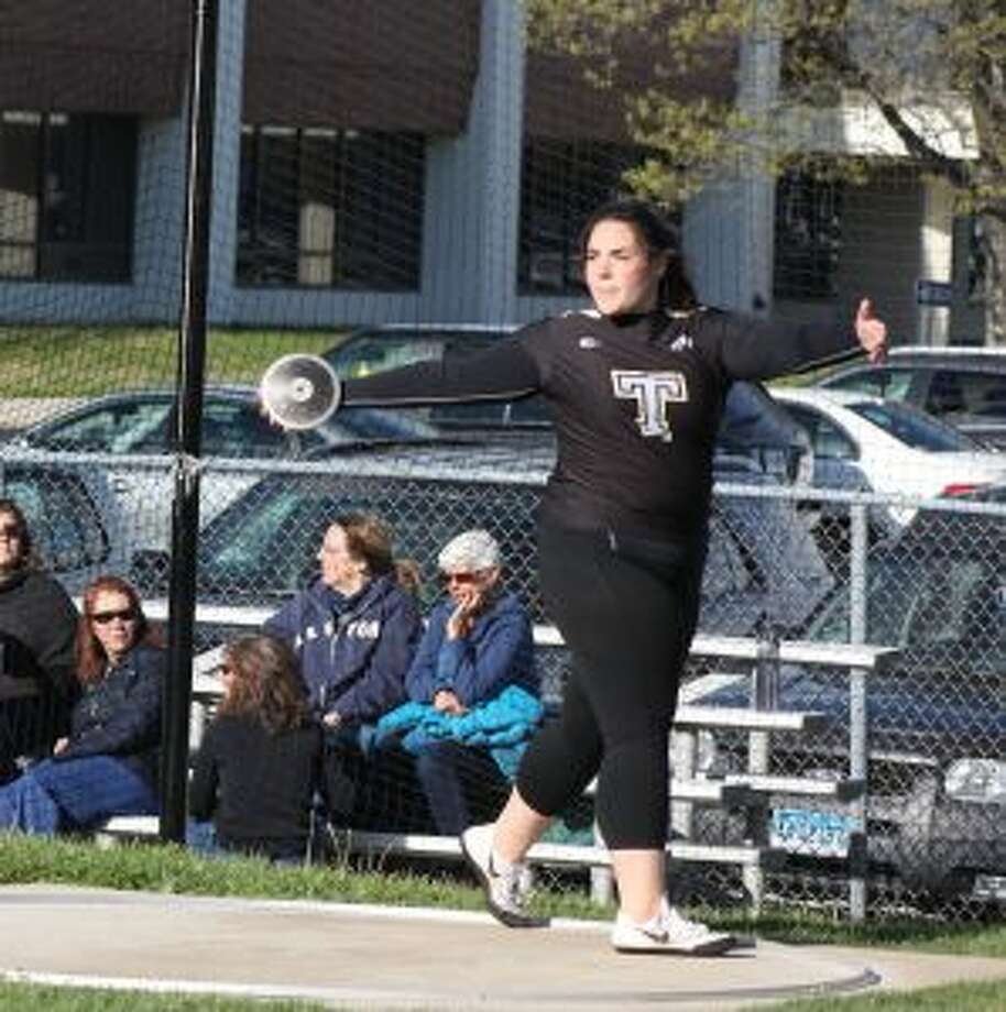 Trumbull's Nicole Baker will compete in the discus throw at the New England Championships.