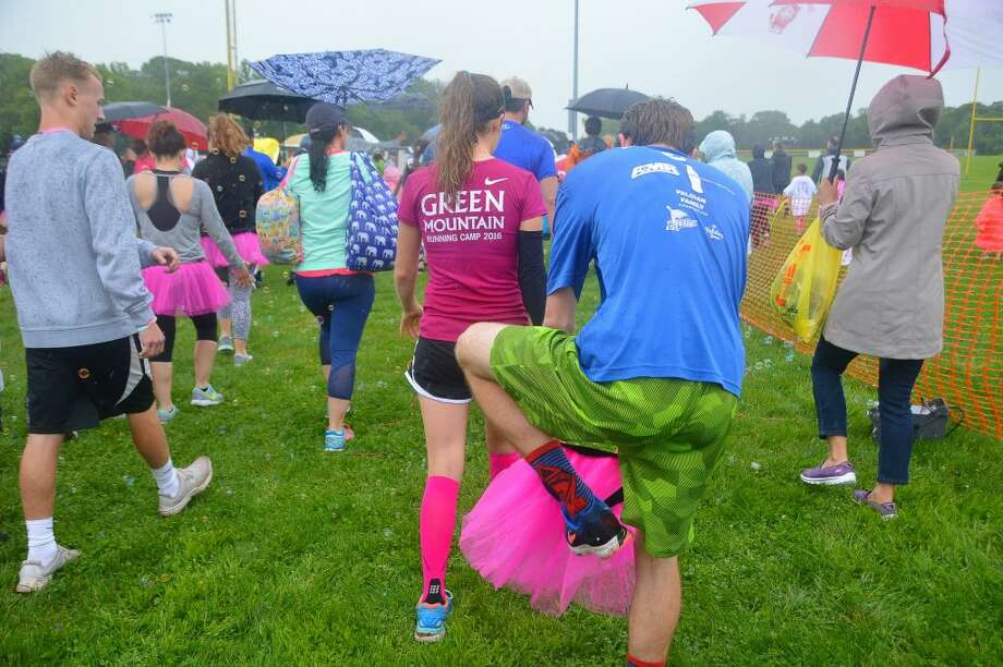 Getting on the TuTu for the 1st leg of the Relay!