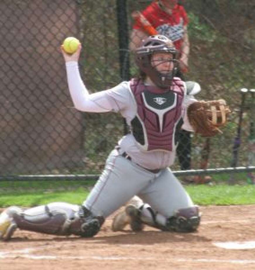 St. Joseph's Jovanna Hillman's home run ignited the attack for the Cadets in their 11-5 win over Watertown. — Bill Bloxsom photo
