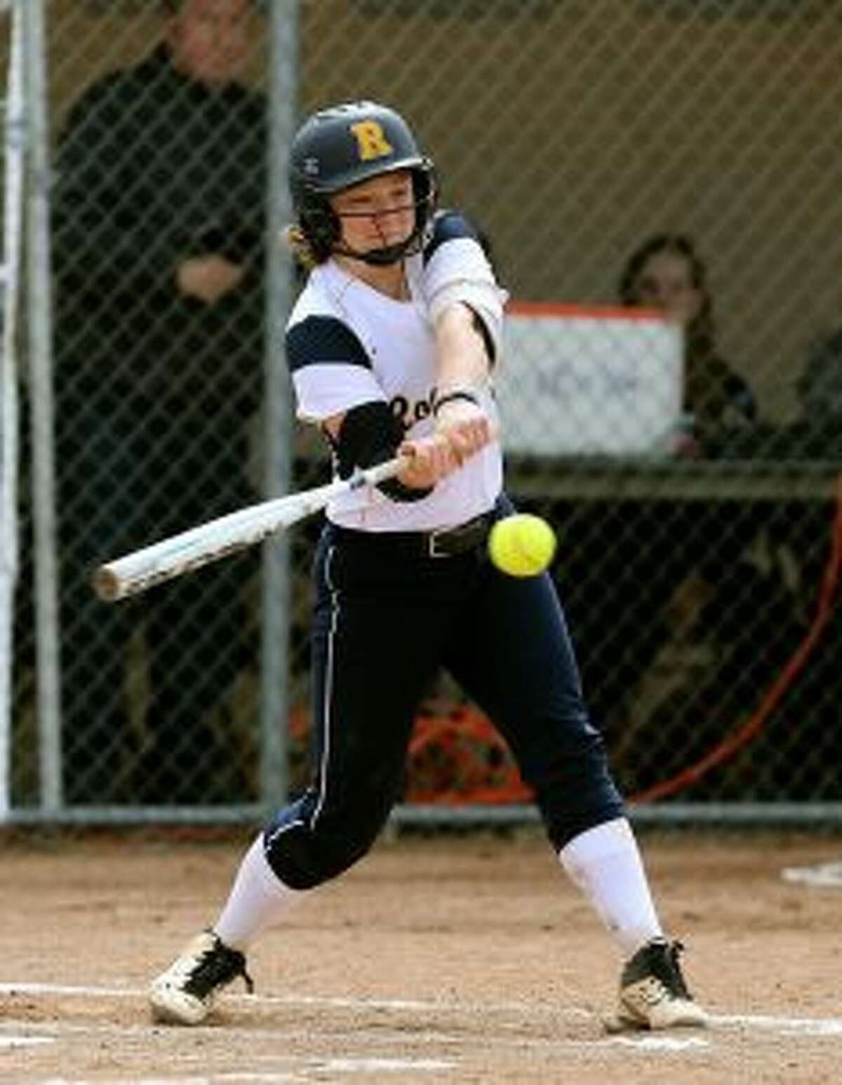 Harleigh Kaczegowicz is both an Academic all-star and the University of Rochester's leading batter. - University of Rochester photo