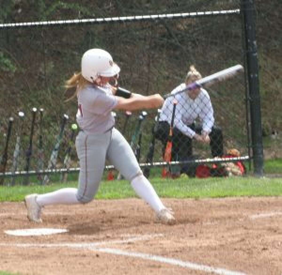 The Cadets' Melissa Bike had a single with two out in the eighth inning to plate the winning run. - Bill Bloxsom photos