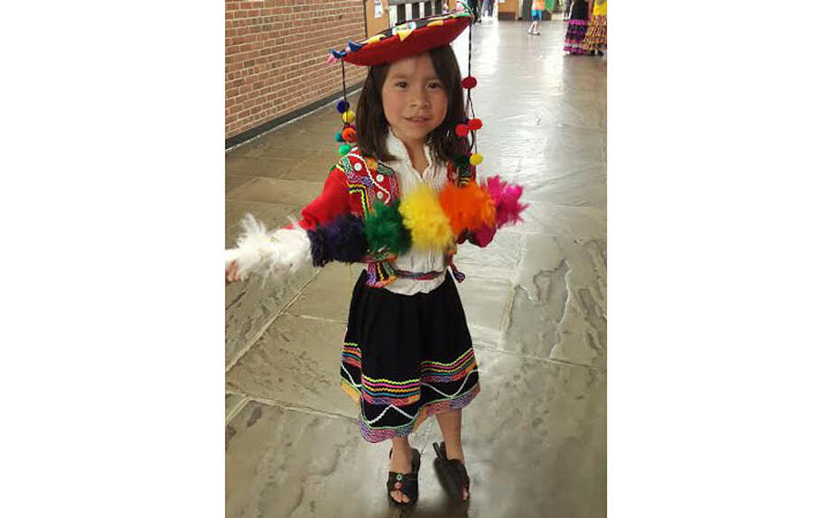 Middlebrook student represents Peru in the Parade of Nations.