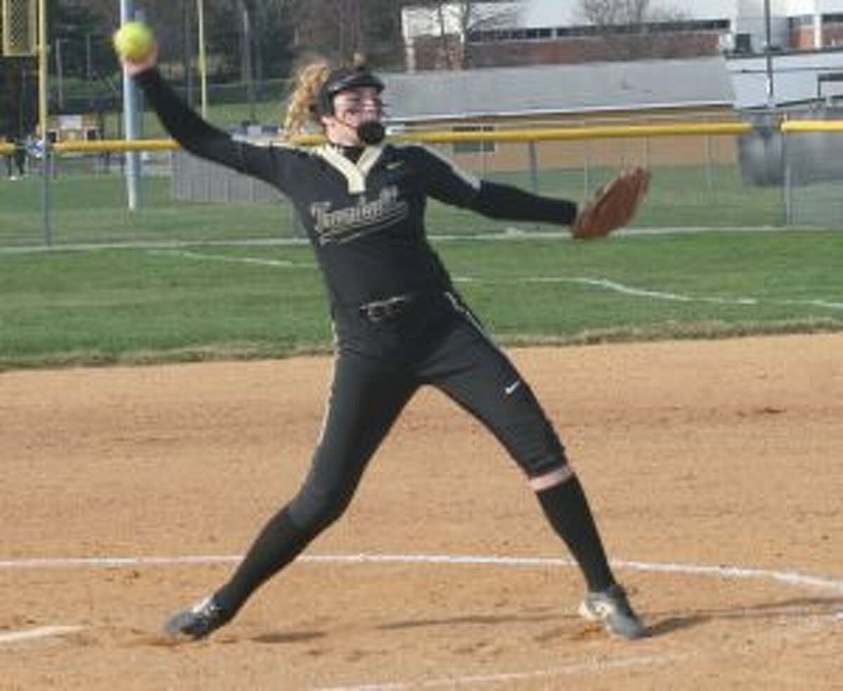 Ally Szabo limited Greenwich to single runs in the first and third innings. - Bill Bloxsom photo