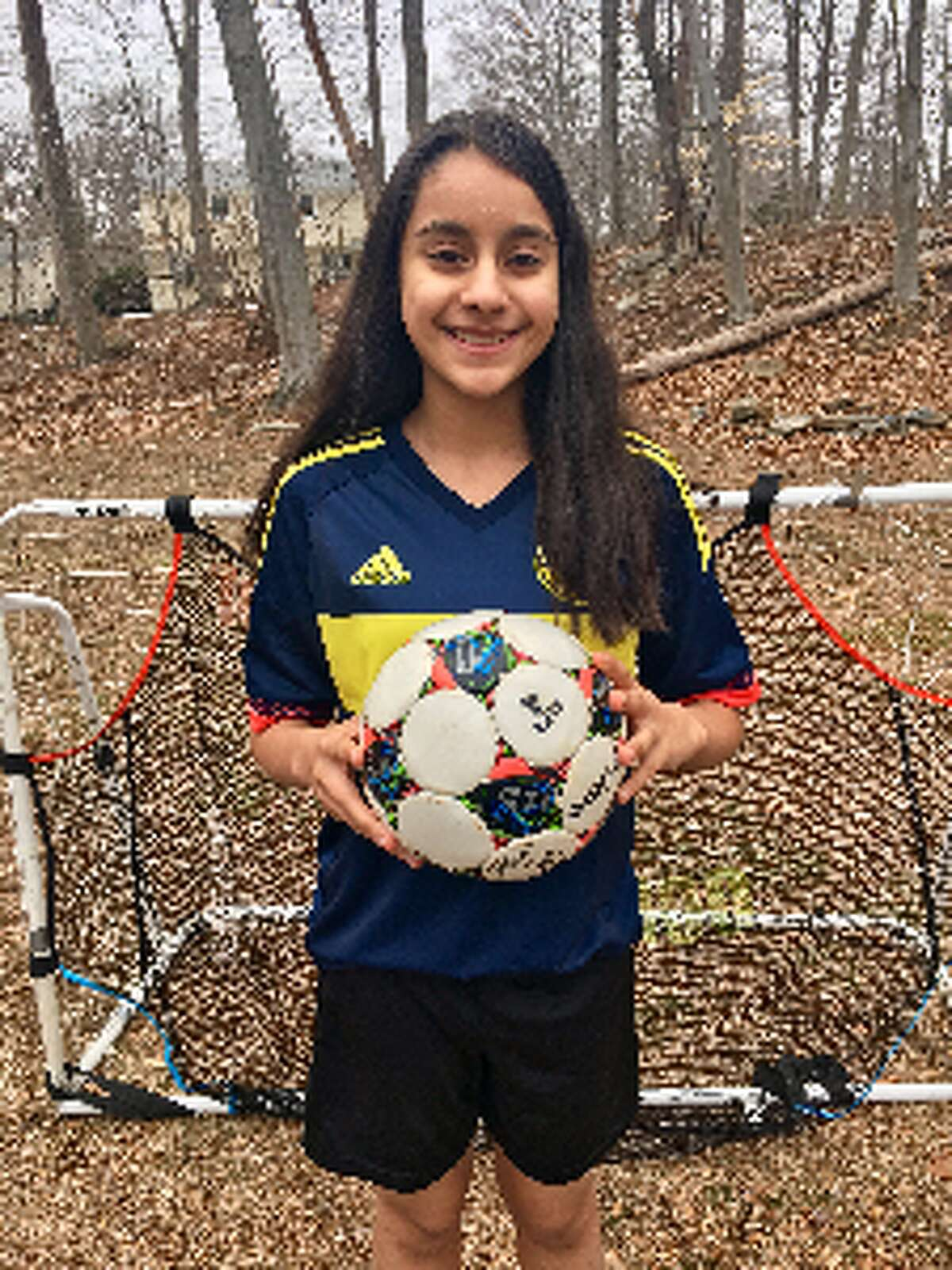 """Mishka Kapoor, an eighth grade student at Madison Middle School, is hosting a """"Kick for Kindness"""" fundraiser Sunday at the Madison Middle School soccer fields."""