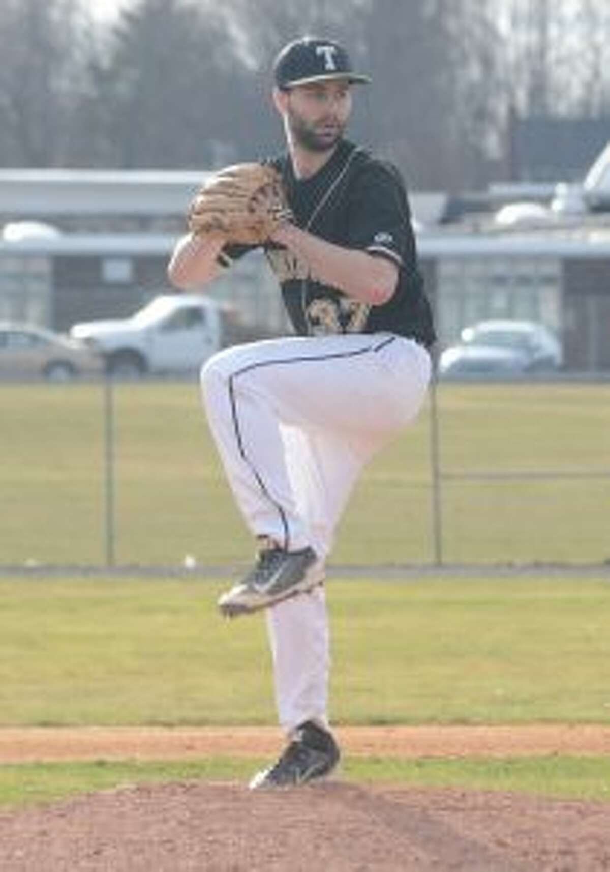 Andrew Lojko pitched into the ninth inning in the season-opening victory. - Andy Hutchison photo