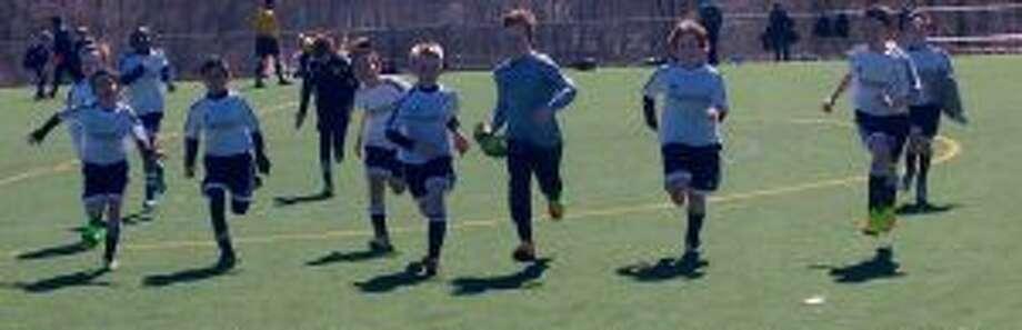 Kellen Soutar (middle), Mateus Almeida (front), David Onianwa (back), Sebastian Perez, Gavin Racette (back) , Christian Gallo (middle), Peter Bahr, Connor Hughes, Matthew Bucci, Tommy DiCorpo, Joey Nicolia (back) take the field.