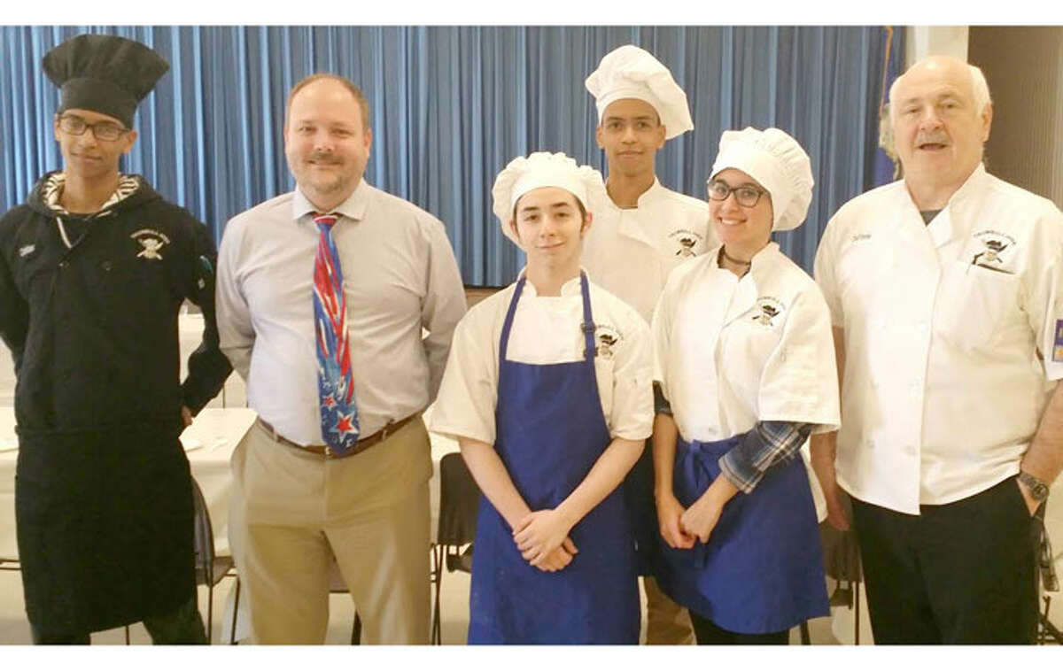 Christian Sweeney; Library Director, Stefan Lyhne-Nielsen; Anthony Moutinho; Andrew Sweeney; Amanda Suarez; and Chef Craig Voytek.