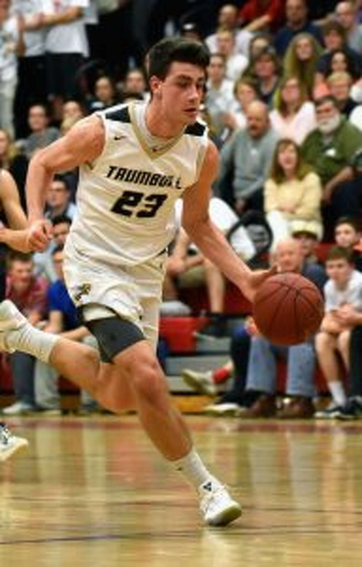 Trumbull's Johnny McElroy scored 18 points to lead the Eagles. - Dave Stewart photo