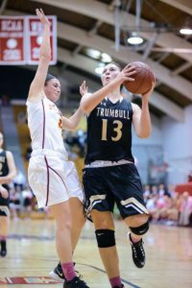 Claudia Tucci and the Trumbull High Eagles are guaranteed one of the top two seeds. — David G. Whitham photo
