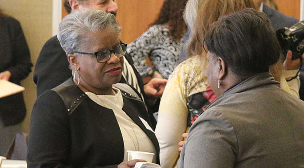 State Sen. Marilyn Moore, left, will hold three public budget meetings with constituents.