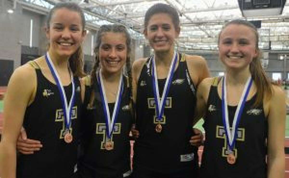 Trumbull's 4x800 squad of Margaret LoSchiavo, Ashley Storino, Ally Zaffina and Kate Romanchick took sixth at the State Open.