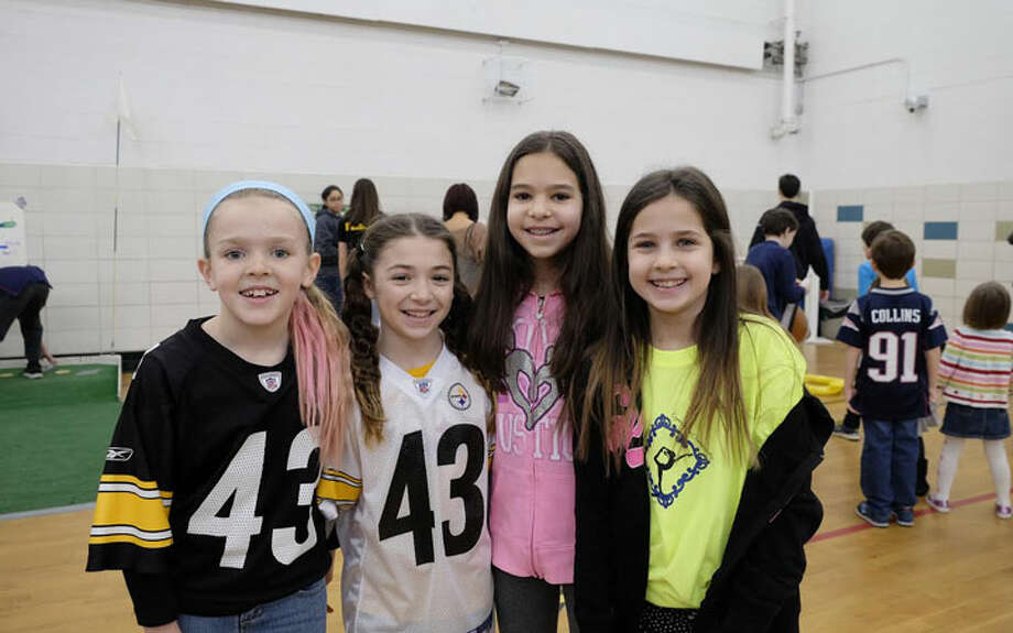 Super Bowl breakfastA Super Bowl breakfast was celebrated at Jane Ryan School on Sunday, Feb. 5. Pictured are fourth graders Molly Vicente, Madeleine Valiante, Elise Daly and Sydney Goldberg.