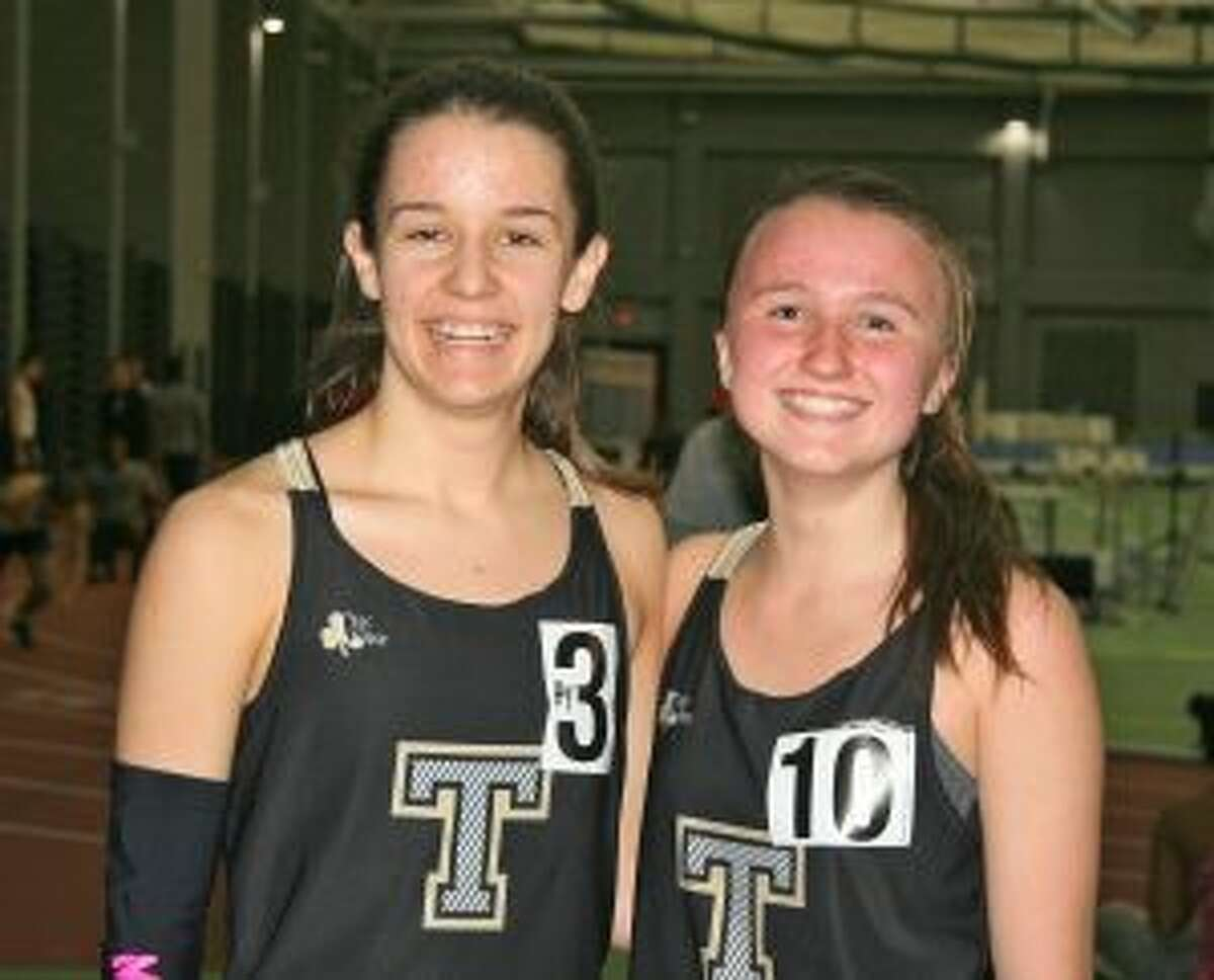 Kate Romanchick placed first and Maggie LoSchiavo qualified for Class LL in the girls 1000-meter run at the Elm City Relays in New Haven on Jan. 6.