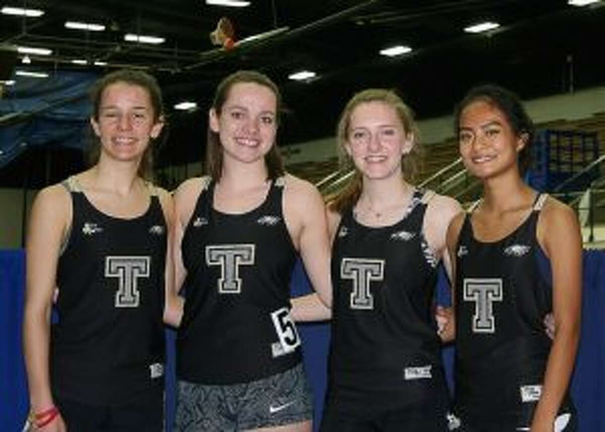 Trumbull's sprint medley relay team placed first.