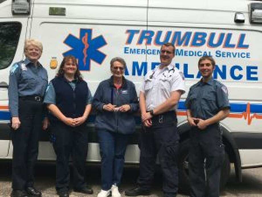 Jen DiJoseph, second from left, is one of three Trumbull emergency responders to be honored during EMS Week.