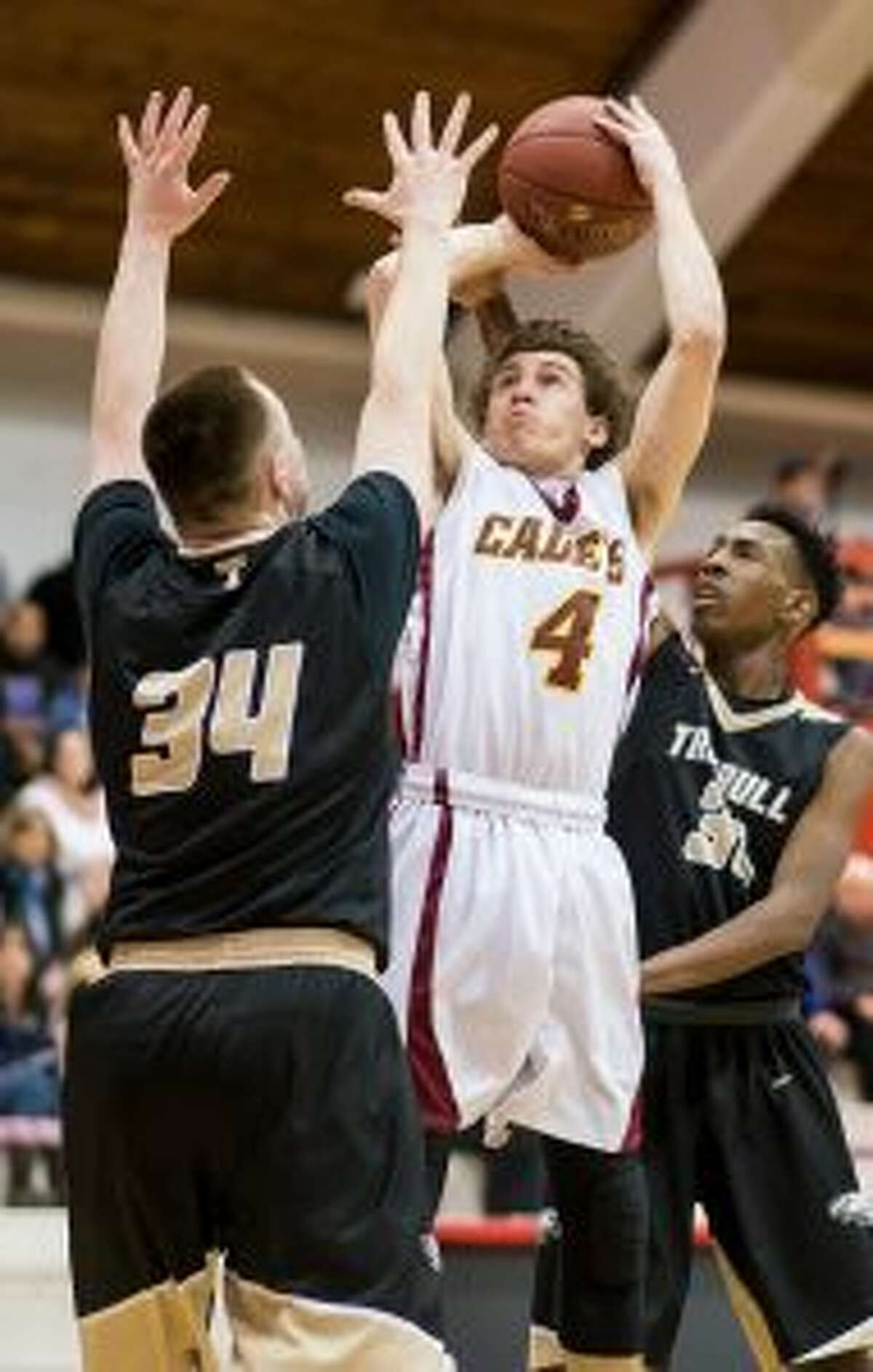 St. Joseph's Dan Tobin scored nine points in the third quarter to lead a Cadet come back.