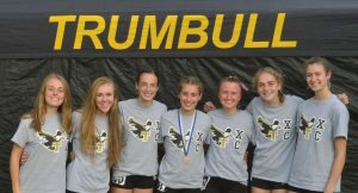 Trumbull finished fourth at the State Open meet, earning its second consecutive trip to the New England Championships. Rebecca Margolnick, Kali Holden, Calyn Carbone, Alessandra Zaffina, Maggie LoSchiavo, Emily Alexandru and Sabrina Orazietti are the top runners for coach Jim McCaffrey's Eagles.
