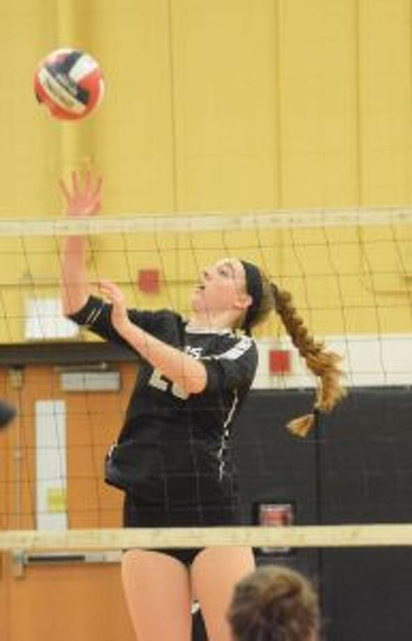 Krystina Schueler had 14 kills and four blocks. — Andy Hutchison photo
