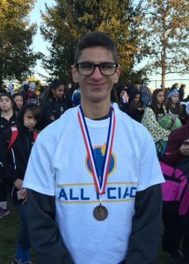 Christopher Lepore placed third at the FCIAC championships.