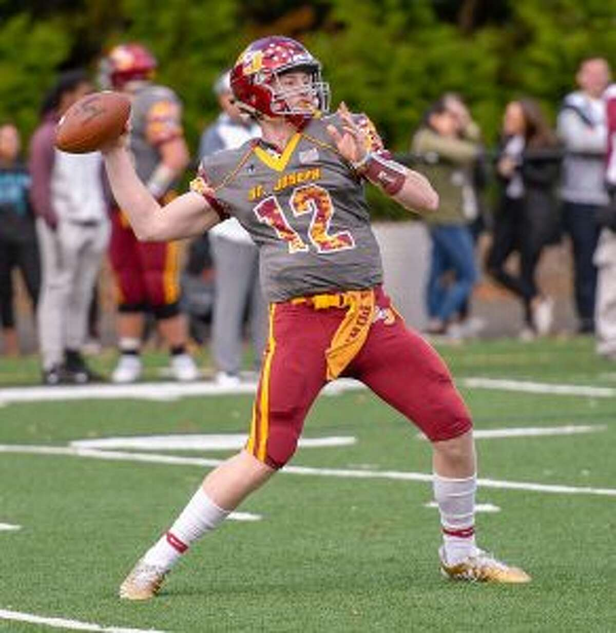 David Summers threw five touchdowns passes for St. Joseph. - David G. Whitham photos
