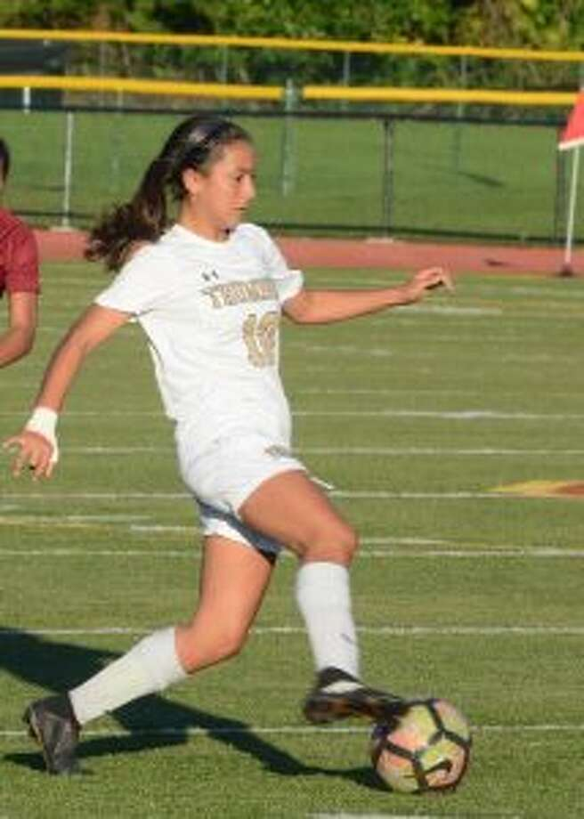 Daniella Milovanov assisted on Trumbull's first goal in its win over Norwalk. — Andy Hutchison photo