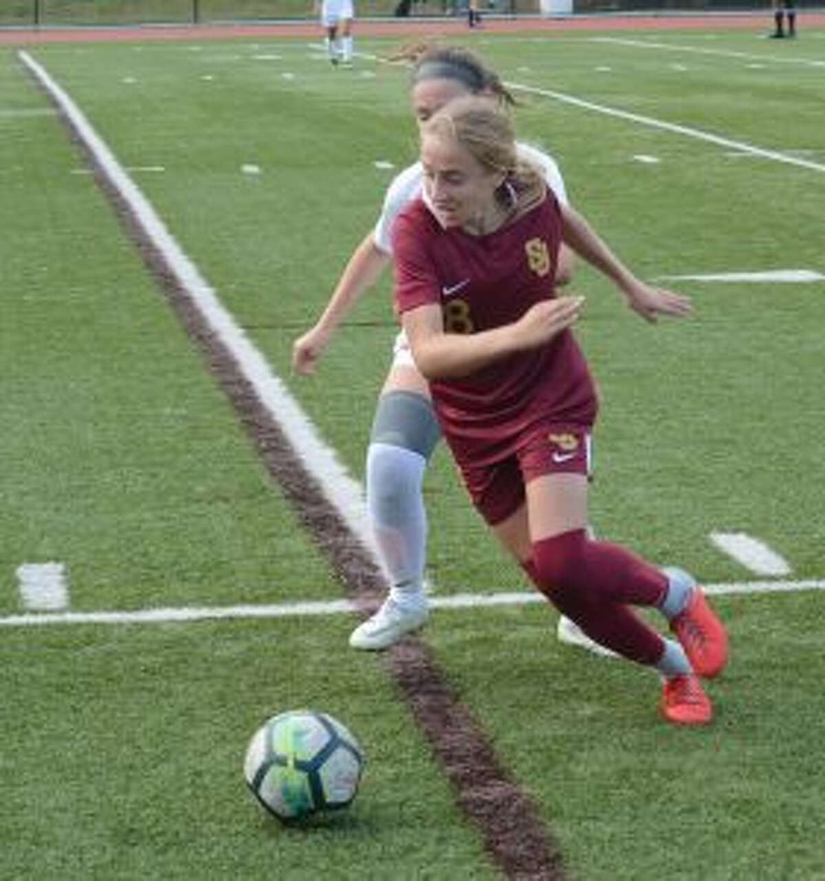 Mary Lundregan scored a pair of goals in the Cadets win over Westhill. - Andy Hutchison photo