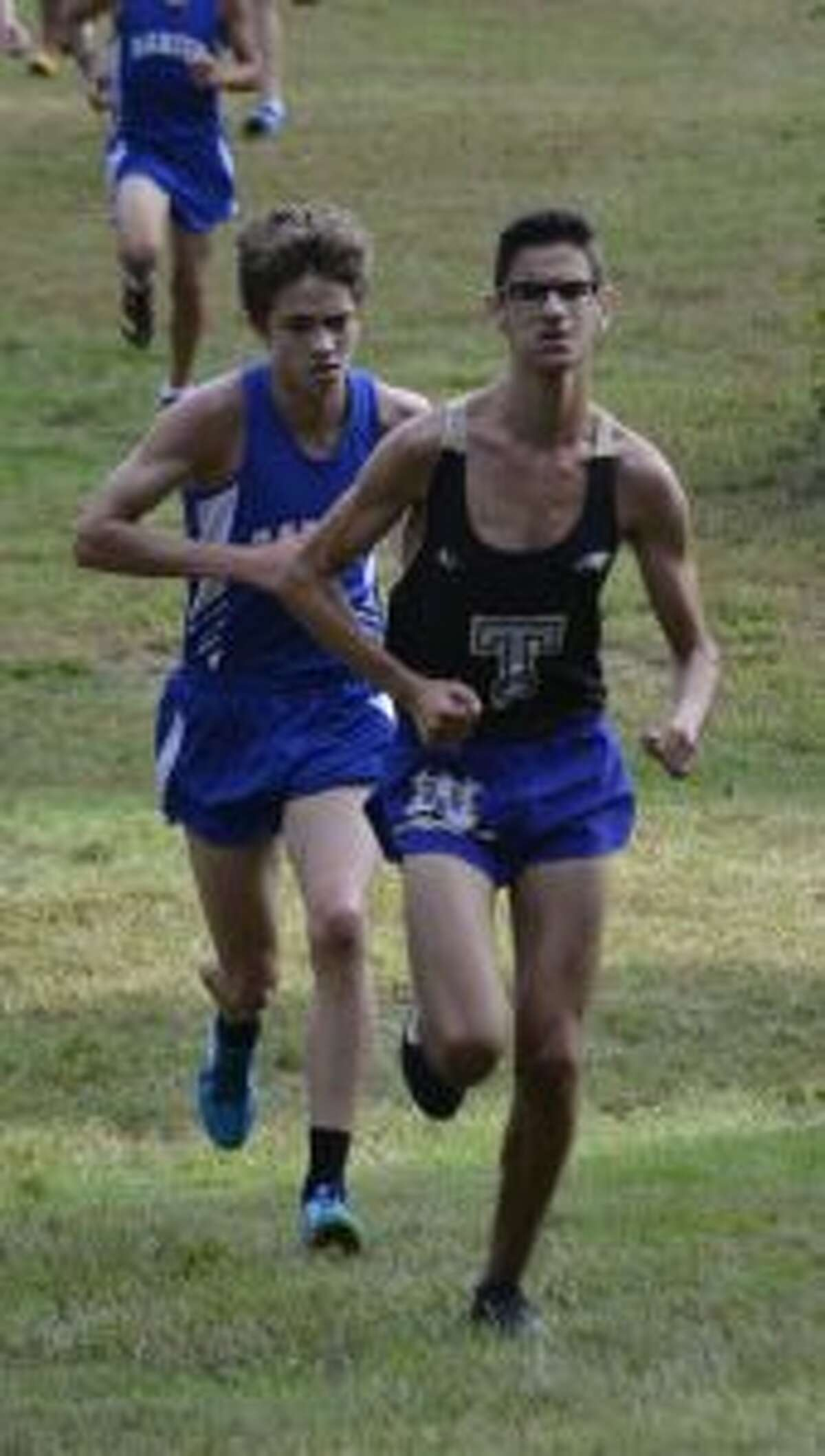Chris Lepore placed first overall in the quad-meet at Greenwich.