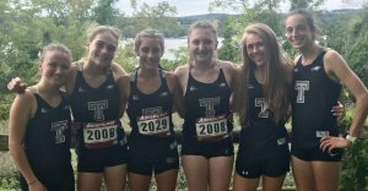Maggie LoSchiavo, Emily Alexandru, Alessandra Zaffina, Megan Becker, Kali Holden and Calyn Carbone led THS varsity to a fifth-place finish