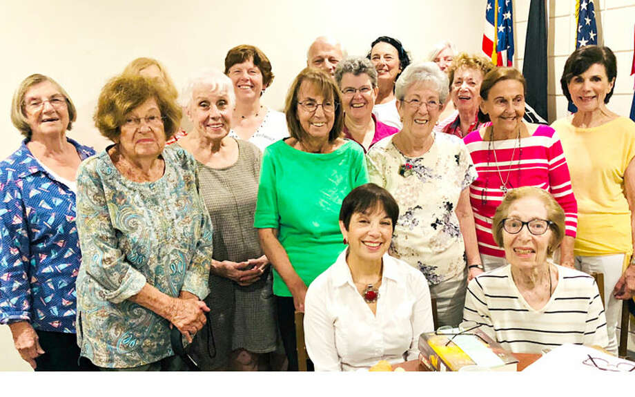 Members of Trumbull Library's Non-Fiction Book Group, now in its 10th year. Three current members, Joan Hammill, Lorraine Smith, and Frances Bushinsky, have participated in the group since its inception.