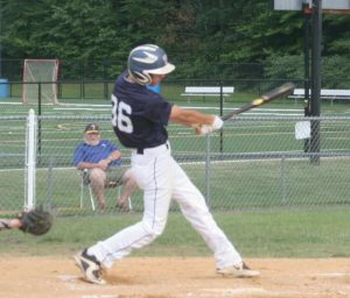 Chase Dralle had a single in Trumbull's five run rally in the first inning.