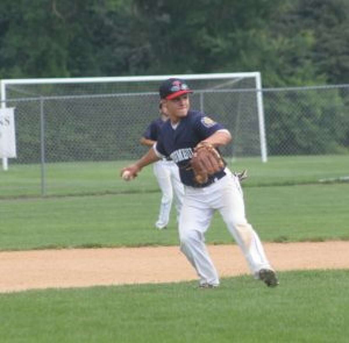 Mark Vozzella had a pair of assists from third base.